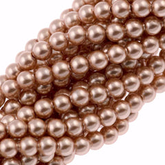 100 Swarovski 5810 4mm Round Rose Gold Pearl Beads