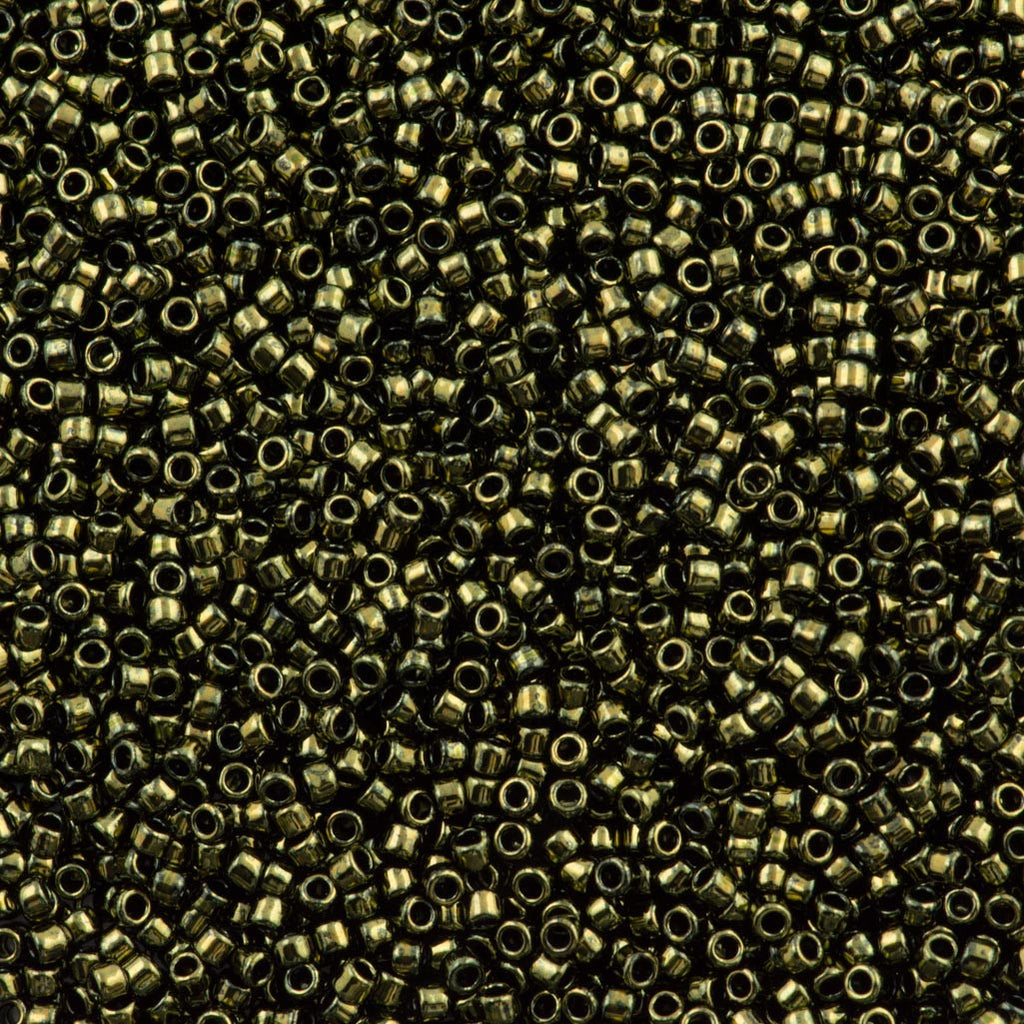 Toho Round Seed Bead 15/0 Dark Chocolate Bronze Gold Luster 2.5-inch Tube (422)