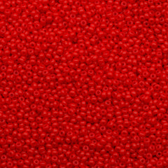 50g Czech Seed Bead 10/0 Opaque Light Red (93170)