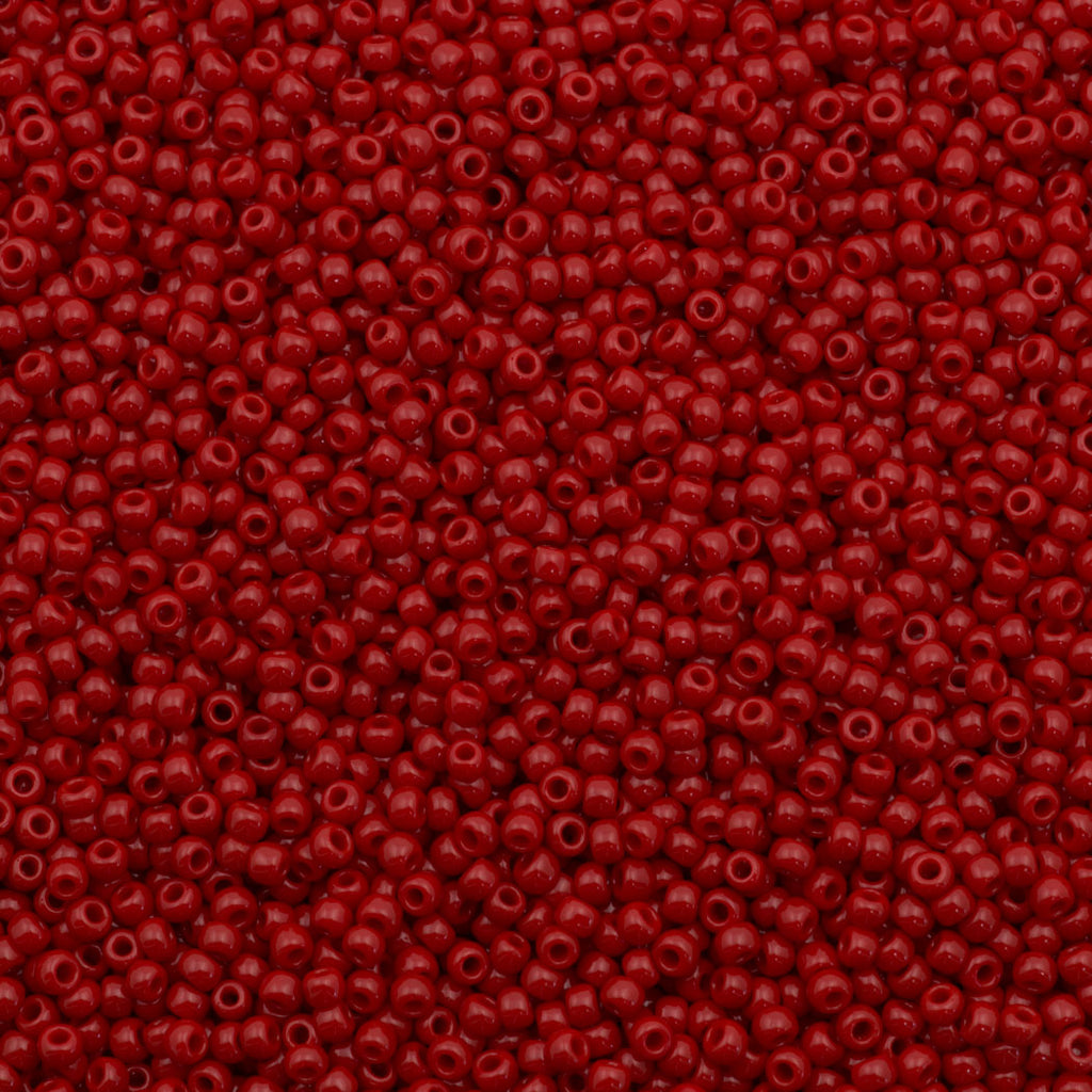 Toho Round Seed Bead 11/0 Opaque Red 19g Tube (45)