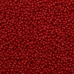 Toho Round Seed Bead 15/0 Opaque Red 2.5-inch Tube (45)