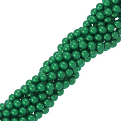 100 Swarovski 5810 4mm Round Eden Green Pearl Beads