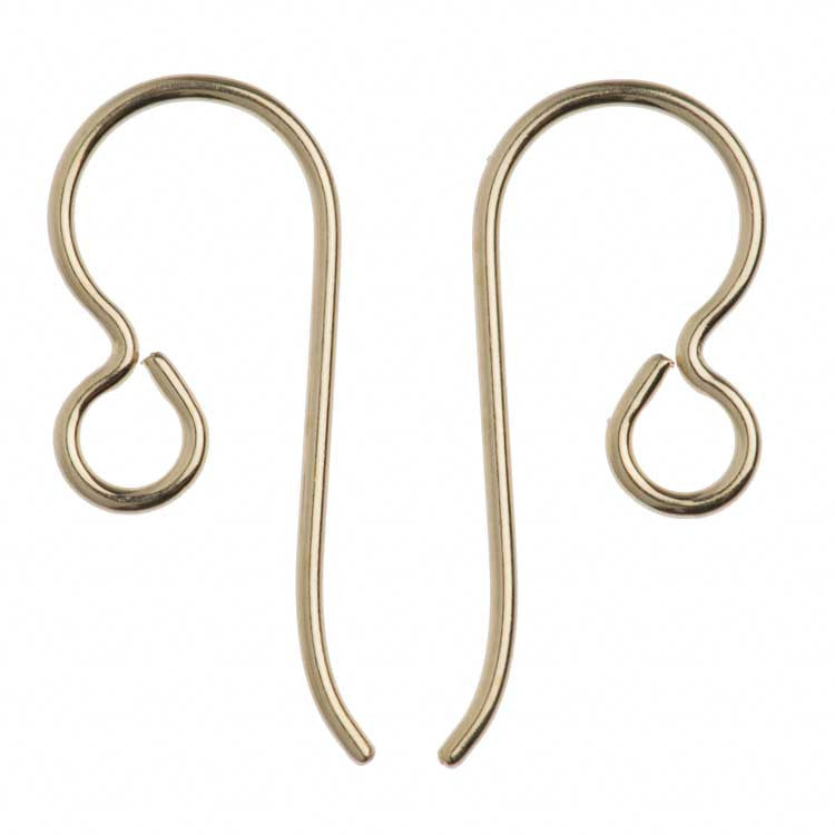 TierraCast Gold Filled 20ga Fish Hook Ear wire with 2.5mm Regular Loop