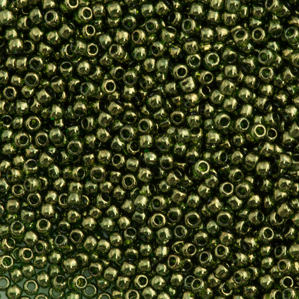 50g Toho Round Seed Bead 11/0 Fern Gold Luster (333)