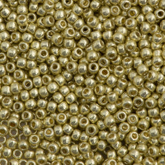 Toho Round Seed Bead 11/0 Permanent Finish Galvanized Yellow Gold 19g Tube (559PF)