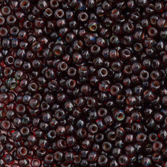 Toho Hybrid Round Seed Bead 11/0 Transparent Siam Ruby Picasso 15g (Y316)
