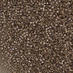 Toho Round Seed Bead 15/0 Inside Color Lined Gold 10g (989)