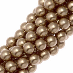 100 Swarovski 5810 4mm Round Bronze Pearl Beads