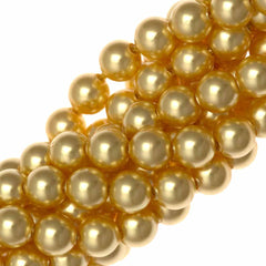 100 Swarovski 5810 4mm Round Gold Pearl Beads