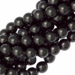 100 Swarovski 5810 4mm Round Black Pearl Beads