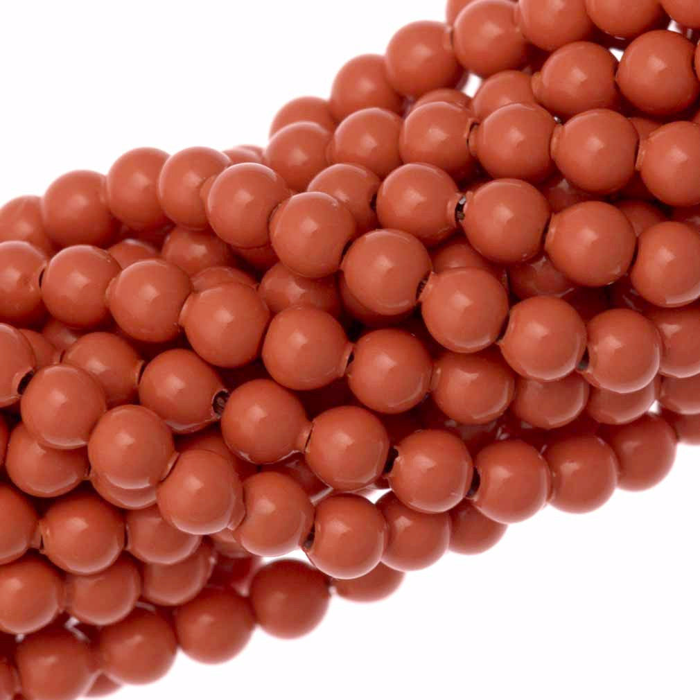 200 Swarovski 5810 3mm Round Coral Pearl Beads