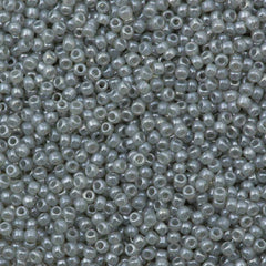 Toho Round Seed Bead 11/0 Transparent Ceylon Gray 19g Tube (150)