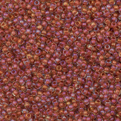 Toho Round Seed Beads 11/0 Inside Color Lined Terra Cotta Luster 15g (186)