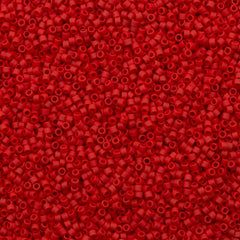 Miyuki Delica Seed Bead 11/0 Opaque Matte Red 7g Tube DB753