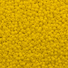 Toho Round Seed Bead 8/0 Opaque Medium Yellow 5.5-inch tube (42B)