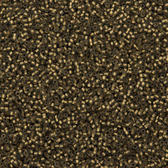 Toho Round Seed Bead 15/0 Inside Color Lined Matte Gold 2.5-inch Tube (999F)