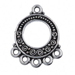 TierraCast Antique Silver Plated Pewter Spirals and Beads Link