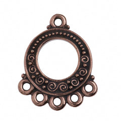 TierraCast Antique Copper Plated Pewter Spirals and Beads Link