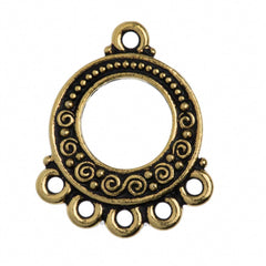 TierraCast Antique Gold Plated Pewter Spirals and Beads Link