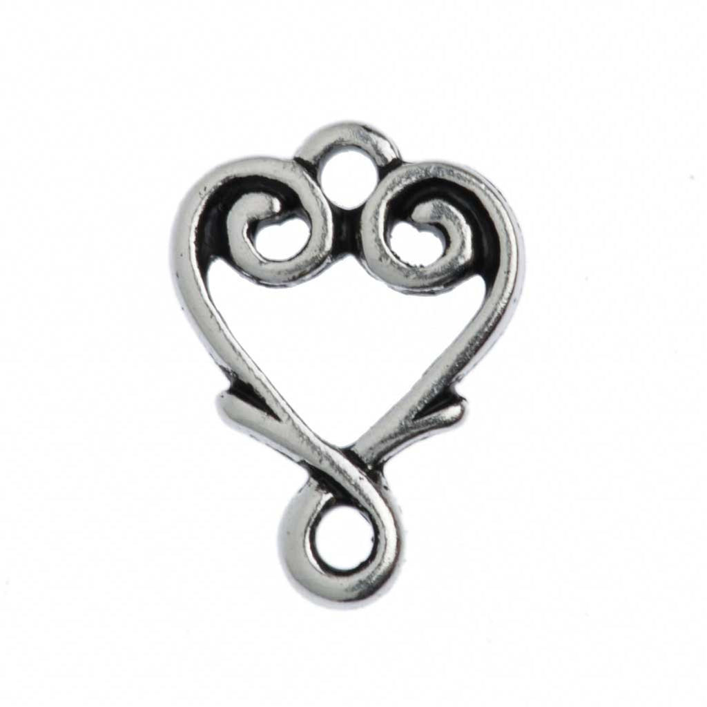 TierraCast Antique Silver Plated Pewter Vine Heart Link