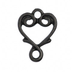 TierraCast Black Plated Pewter Vine Heart Link