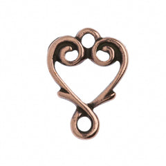 TierraCast Antique Copper Plated Pewter Vine Heart Link