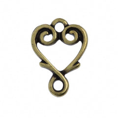 TierraCast Antique Brass Plated Pewter Vine Heart Link