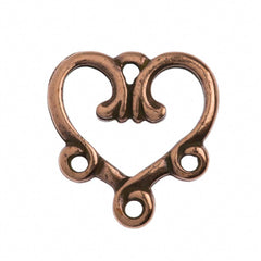TierraCast Antique Copper Plated Pewter 3-1 Vine Heart Link