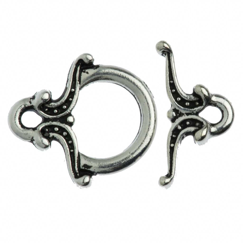 TierraCast Antique Silver Plated Pewter Keepsake Toggle Clasp