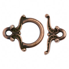 TierraCast Antique Copper Plated Pewter Keepsake Toggle Clasp