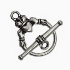 TierraCast Antique Silver Claddagh Clasp Set