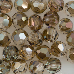 12 Swarovski Crystal 4mm Faceted Round Bead Crystal Bronze Shade (001 BRSH)