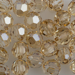 Swarovski 8mm 5000 Round Bead Crystal Golden Shadow (001 GSHA)