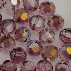 Swarovski 10mm 5000 Round Bead Crystal Lilac Shadow (001 LISH)