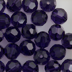 Swarovski Crystal 8mm 5000 Round Bead Purple Velvet (277)
