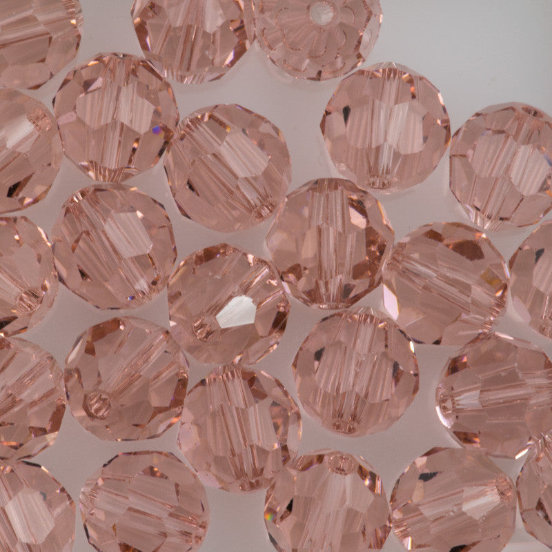 Swarovski Crystal 8mm 5000 Round Bead Vintage Rose (319)
