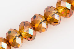Swarovski Crystal 12x8mm 5040 Rondelle Bead Crystal Copper (001 COP)