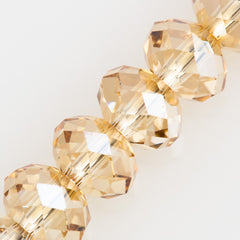 Swarovski 4x3mm 5040 Rondelle Bead Crystal Golden Shadow (001 GSHA)