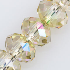 Swarovski Crystal 6x4mm 5040 Rondelle Bead Crystal Luminous Green (001 LUMG)