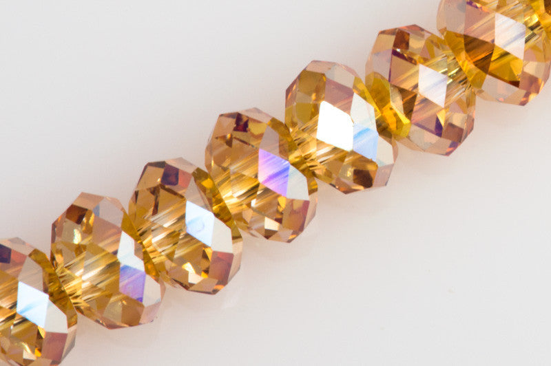 Swarovski Crystal 4x3mm 5040 Rondelle Bead Metallic Sunshine (001 METSH)