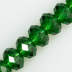 Swarovski Crystal 6x4mm 5040 Rondelle Bead Dark Moss Green (260)
