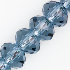 Swarovski Crystal 12x8mm 5040 Rondelle Bead Denim Blue (266)