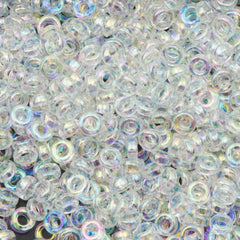 Miyuki 2.2mm Spacer Beads Transparent Crystal AB 7g Tube (250)