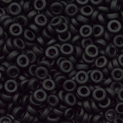 Miyuki 2.2mm Spacer Beads Opaque Matte Black 7g Tube (401F)