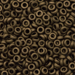 Miyuki 2.2mm Spacer Beads Matte Metallic Bronze 7g Tube (2006)