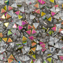 6mm Kheops Par Puca Two Hole Triangle Crystal Marea Beads 2-inch Tube (00030MAR)