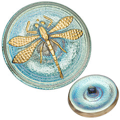 Czech 23mm Transparent Luster AB Dragonfly Glass Button