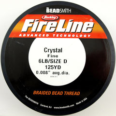 Crystal Fireline 6Lb .2mm Beading Thread 125 yard Spool