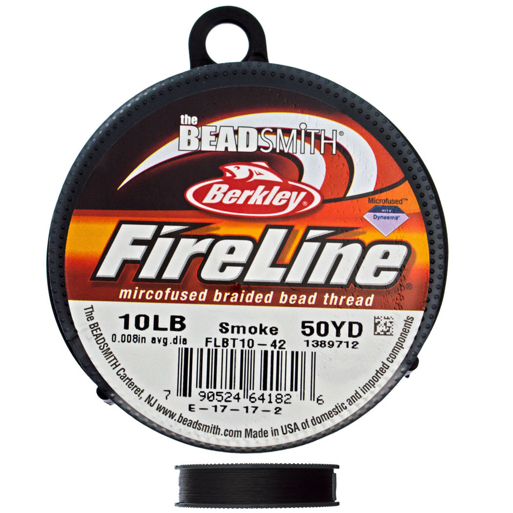 Smoke Fireline 10Lb .25mm Beading Thread 50 yard Spool-1