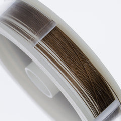 Beadalon 7 Strand Bronze .3mm Beading Wire 30ft